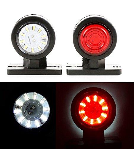 4x 24V LED laterale Outline Marker Lights Short base in gomma Stalk lampade rimorchio Van Truck...