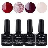 Allenbelle Esmaltes Permanentes Para Uñas Nail Art Soak Off UV LED Esmalte Permanente de gel (Lot 4...