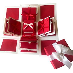 Crack of Dawn Crafts 3 Layered Romantic Explosion Box - Red Love 16  Crack of Dawn Crafts 3 Layered Romantic Explosion Box – Red Love 51N4wfQXqCL