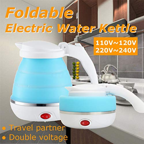 Gaddrt Bollitore Portatile Pieghevole In Silicone Bollitore Elettrico Bollitore Per Acqua Bollente...
