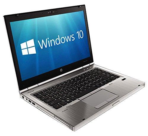 HP EliteBook 8470P 14 inch Notebook (Intel i5-3320M, 8 GB RAM, 320 GB HDD, Windows 10) - Silver (Certified Refurbished)