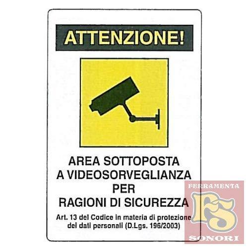 PUBBLICENTRO Cartelli segnaletici in alluminio Pubblicentro - area videosorvegliata -04104310ALB0300X0200