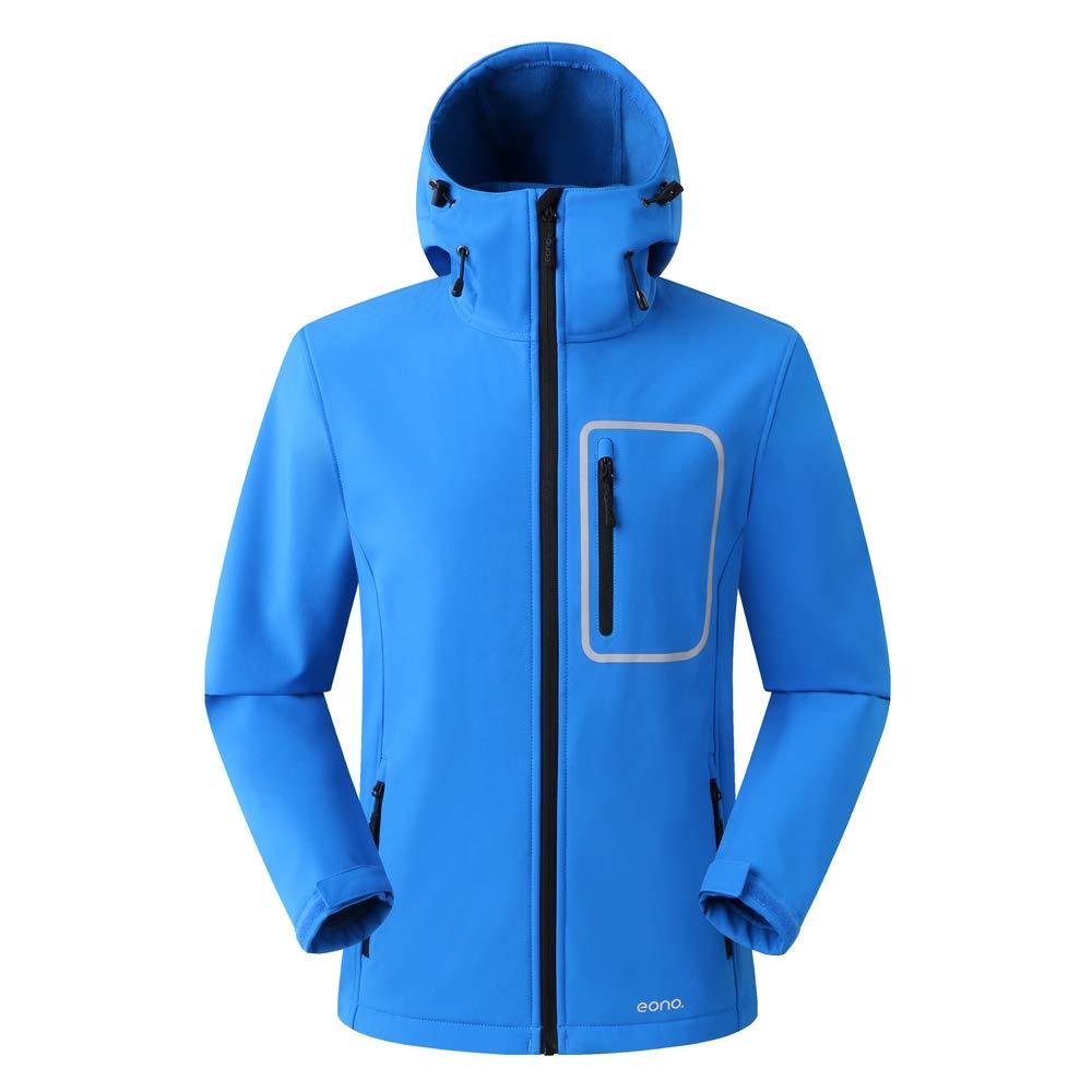 save off c1227 a8810 Eono Essentials, giacca soft shell con cappuccio inamovibile, da  uomo|Giacca impermeabile uomo