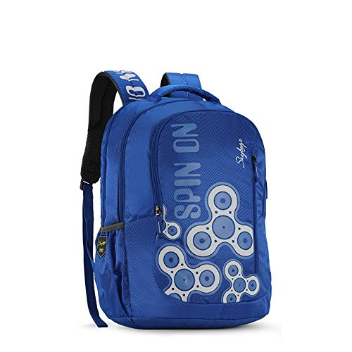 Skybags New Neon Polyester 1850 cm Blue Spacious School Backpack-32 Litres 2