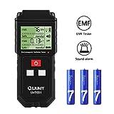 Detector de Radiación de Campo Electromagnético/Medidor EMF,LIUMY Mini LCD Digital Dosímetro de Detector EMF Contador Tester,Detección de Radiación de Campo Magnético Alarma de Radiación