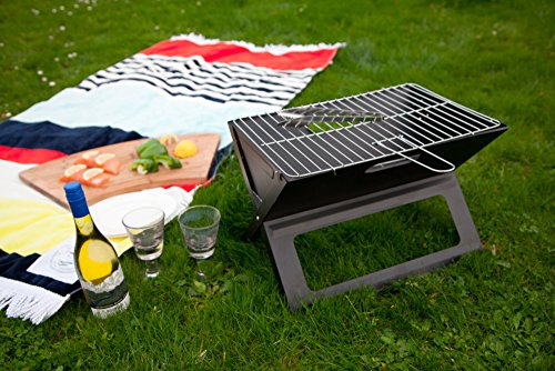 The Notebook Folding Grill is perfect for camping or taking the beach and the stand out feature is how it folds downs, absolutely brilliant. It is lightweight and doesn't take up too much space which is the whole idea of a portable bbq so it does what it says on the tin.