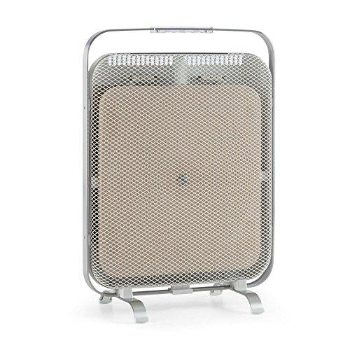 Klarstein HeatPal Marble • Infrarot-Heizpanel • Infrarot-Heizung • Wärmespeicher • Wärmeplatte • lautlos • sicherer Stand • 1300 Watt • modernes Design • allergikergeeignet • Tragegriff • weiß