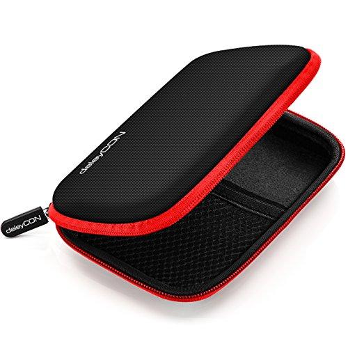deleyCON Borsa del Disco Rigido Custodia HDD - Per Dischi Rigidi da 2,5' Pollici e SSD - Robusto e...