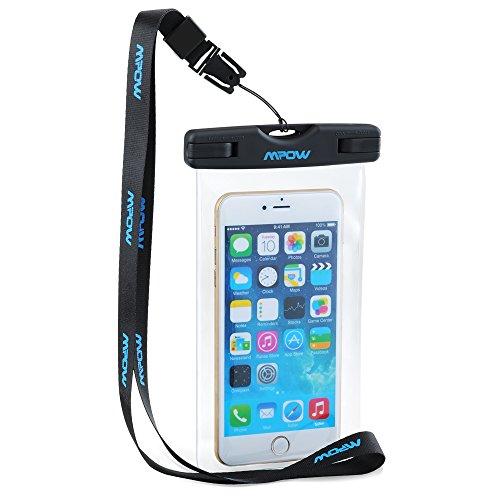 Wasserdichte Handyhülle,Mpow Wasserdichte Hülle Beutel Tasche,wasserfeste handyhuelle,Staubdichte Schützhülle für iPhone 7/6/6s/6splus/5/5c/5s/Galaxy S7/S7edge/S6/S6 edge/S5,Huawei P8/P9, usw bis zu 6 Zoll