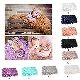 OULII Bebé, accesorios piel suave edredón tapete fotográfico bebé DIY fotografía abrigo bebé foto atrezzo favores (púrpura)