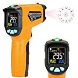 Kasimir AD50 Termometro a infrarossi Termometro -50°C a 600°C Digitale Laser Pistola Termometro Professionale con sonda per cucina dolci forno ambiente interno industria e scienza LCD display