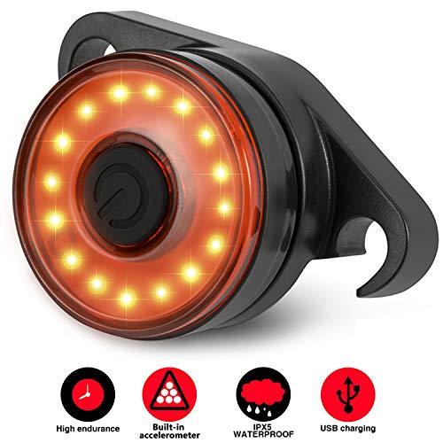 Luce Posteriore Led Bici Intelligente, SEWOBYE Luce Bici Ricaricabile USB - Ultra Luminosi - Luce...