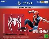 PlayStation 4 - Konsole (1TB) Limited Edition Marvel's Spider-Man Bundle inkl. 1 DualShock 4 Controller, rot
