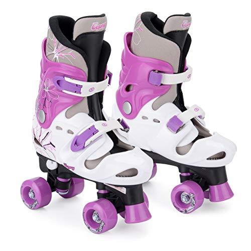 Osprey Quad Skates für Kinder, Verstellbare Rollschuhe für Mädchen, Lila