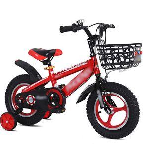 Qazxsw Bicicletas De Los Niños De 2-10 Años De Edad Niños Al Aire Libre Bicicletas De Viaje Niños Y Niñas Bicicletas Control De Seguridad Sucio Y Duradero,Rojo,16inches