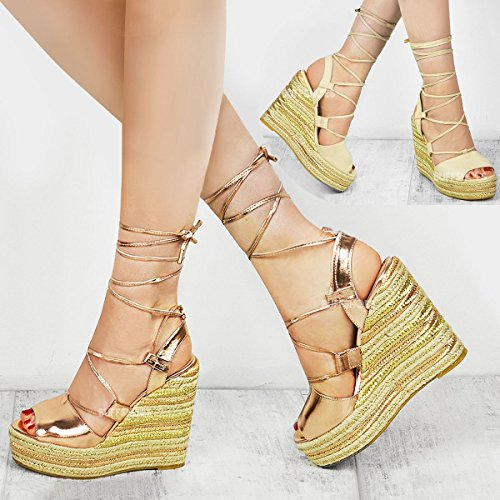 971d89a95c7 Fashion Thirsty Heelberry® Womens Ladies Wedge Espadrille Sandals Lace Tie  Up Strappy Party Platforms Size - SixtySomething - Over Sixty Lifestyle  Magazine
