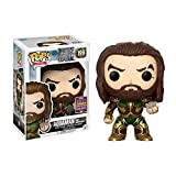 Funko- Justice League Pop Vinyl Figure 199 Aquaman W/Motherbox SDCC Summer Convention Exclusives, 14867