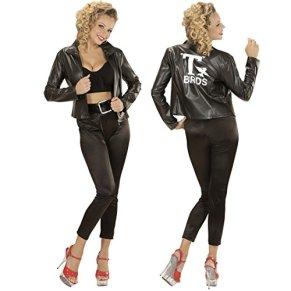NET TOYS Traje Mujer años 52 Disfraz Adulta Rockabilly M 38/40 Chaqueta Grease Outfit Rock and Roll chaquetón Cincuenta Ropa Moda años 50