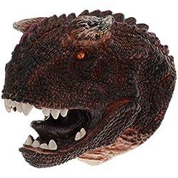 perfeclan Marioneta de Mano de Cabeza de Dinosaurios Guantes de Títeres Regalo de Cumpleaños / Halloween / Navidad para Niños Niñas - Carnotaurus
