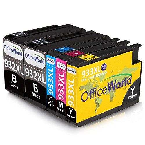 OfficeWorld 932 933 Compatibile Cartucce Sostituzione per HP 932XL 933XL Alta capacità Compatibile...