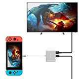 TUTUO Nintendo Switch Dock USB Tipo C a HDMI Adaptador USB Hub Convertidor Cable USB 3.0 y USB C PD (Power Delivery) Hub para Nintendo Switch, Macbook Pro 2017 2016, Samsung Galaxy S8 Plus