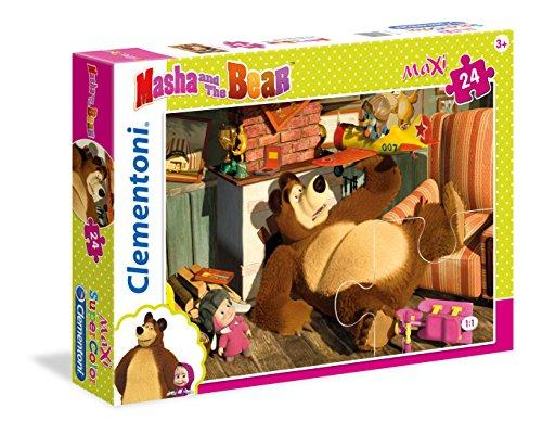 Clementoni - 24492 - Supercolor Puzzle - Masha e Orso - 24 Maxi Pezzi