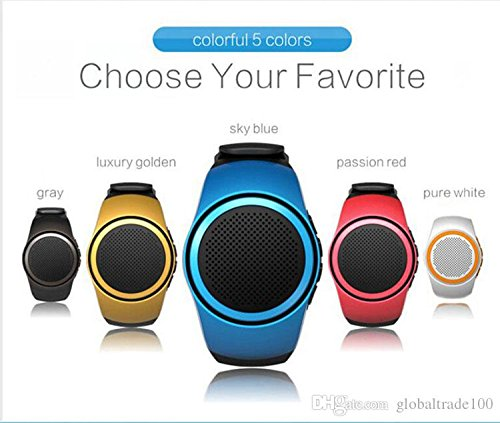MSE B20 MP3 Music Player Portable Wireless Bluetooth Mini Speaker+ Remote Control Selfie-Timer 5 pieces (Colour: Blue, Grey, Red, golden Orange)