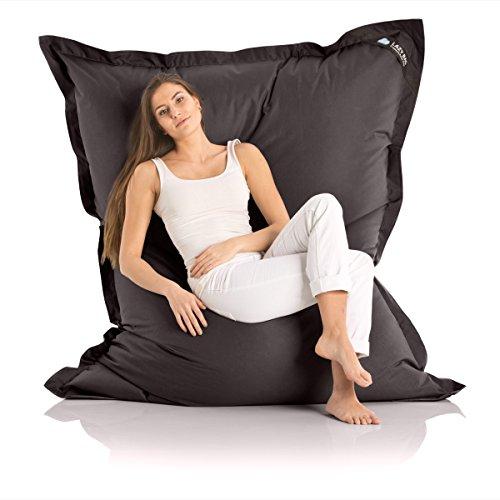 Poltrona a sacco originale 'Lazy Bag' per esterni dimensioni XXL - 180 x 140cm imbottitura: 360 L, Nylon, nero, Nylon