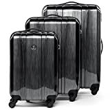 FERGÉ® Set di 3 valigie Dijon - leggero bagaglio rigide dure da 3 rigida grigio