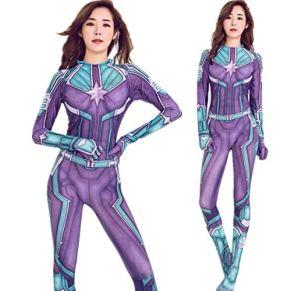 Capitán Marvel Cosplay Disfraz de impresión Digital 3D Vestido navideño de Halloween para niños/Adulto