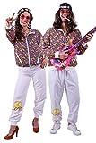 FetteParty - Hippi Erwachsenenkostüm, Deluxe Trainingsanzug - Jogginganzug, Jacke und Hose - 60-er Jahre 70-er Jahre Schlagermove Groovy Mottoparty Karneval JGA (L)