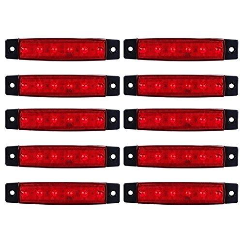 symboat 10PCS 12V SMD LED luci laterali eclairage6LED Fuoco di posizione marcatore posteriore...