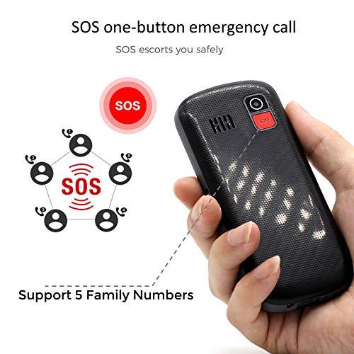 Artfone GSM téléphone Senior Portable Débloqué avec Grandes Touches, Bouton SOS, 1400mAh Batterie 8