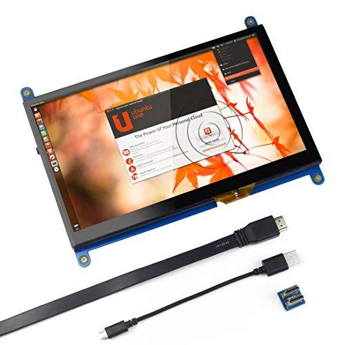Per monitor Raspberry Pi da 7 pollici con touch screen capacitivo HDMI - Schermo LCD da gioco LCD 1024x600 HD, DRIVE FREE per Raspberry Pi/Windows 10 / Beagle Bone Black e Banana Pi