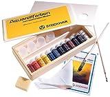 STOCKMAR Colores acuarela 12 Colores en caja de madera