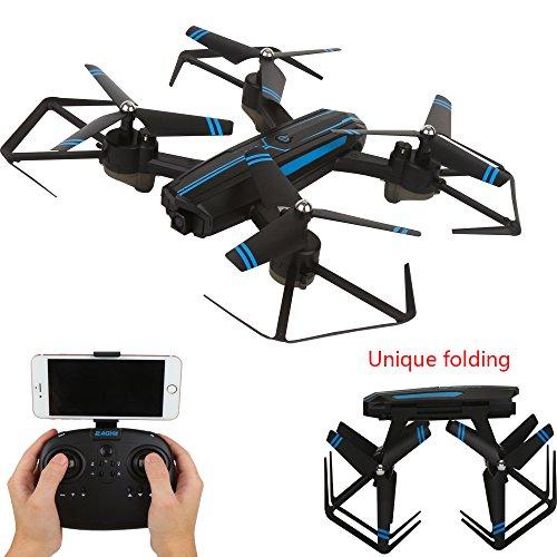 YMXLJJ Drone Remoto Pieghevole Dotato Di Fotocamera HD Grandangolare 2.0MP120 ° WIFI FPV Quadcopter...