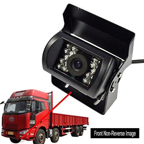 Cocar Camion Vista frontale Telecamera Impermeabile Visione Notturna Robusto Infrarossi CCD HD CCTV per Camion Auto e Furgoni MWS Non-Immagine Speculare Senza Linee di Parcheggio Assistenza - DC 12v-24v 32FT Video Cavo