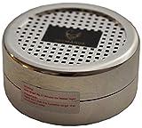 GERMANUS Humdior Befeuchter Silber für Zigarren, Tabak, Pfeifentabak und Zigarrettentabak