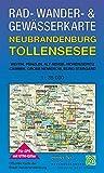 Rad-, Wander- und Gewässerkarte Neubrandenburg, Tollensesee: Mit Weitin, Penzlin, Alt Rehse, Hohenzieritz, Cammin, Groß Nemerow, Burg Stargard. Mit ... / Rad-, Wander- und Gewässerkarten, 1:35.000)
