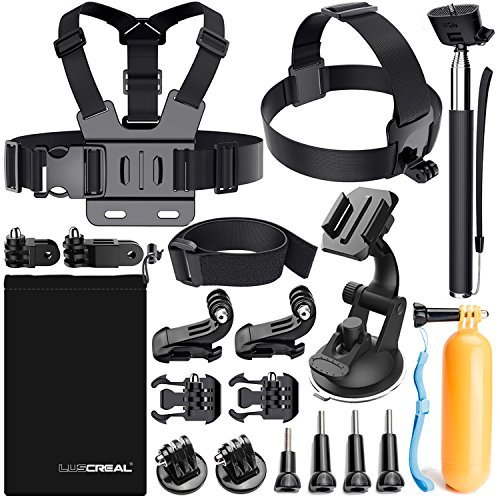 Accessori per Gopro, Kit Accessori Action Cam per Go Pro Hero 7 Hero 2018 Hero 6 5 4 3 2 1 Hero Session 5 Black AKASO EK7000 Apeman Dpower Xiaomi di Luscreal
