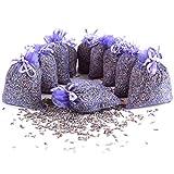 Quertee 10 x Lavendelsäckchen mit echtem französischen Lavendel - Insgesamt 100g Lavendelblüten als Duftsäckchen