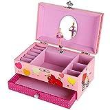 Songmics Joyero musical Caja de música con diseño de bailarina Regalo para niñas Color rosa JMC002