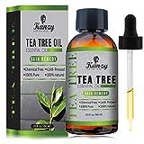 KANZY Aceite esencial de árbol de té para cara y Cuerpo masaje - El tratamiento para el acné, manchas y problemas de la piel- 100% puro - 60ml