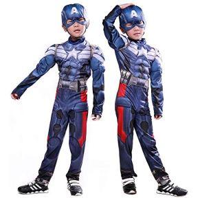 Lydia's Anime Cosplay Ropa Capitán Infantil América Cosplay The Avengers Hero Ropa Muscular Impresión Digital 3D Navidad Disfraces Disfraces De Halloween M