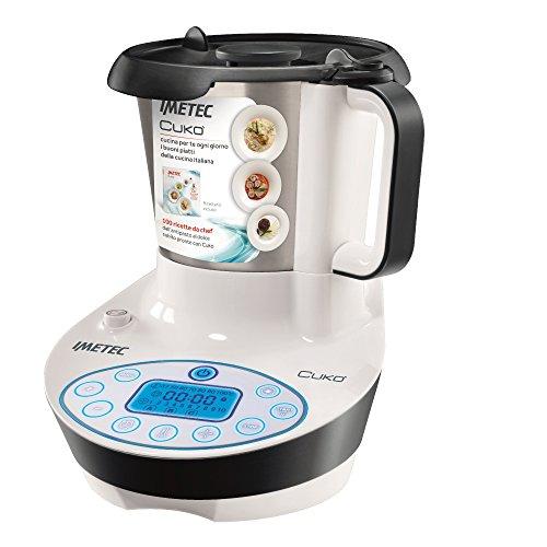 Imetec Cukò Robot da Cucina Multifunzione con Cottura, Multicooker con 3 Programmi Automatici per...