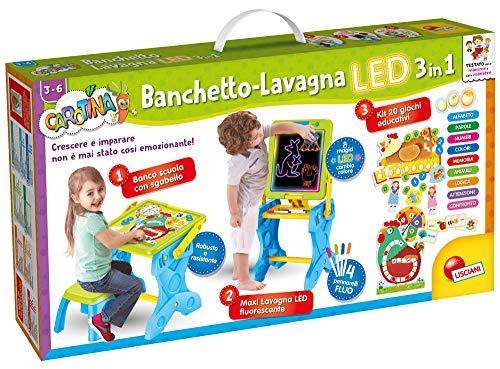 Lisciani Giochi - 77465 Gioco per Bambini Carotina Banchetto LED, Gioco e Imparo 3 in 1, Edizione...