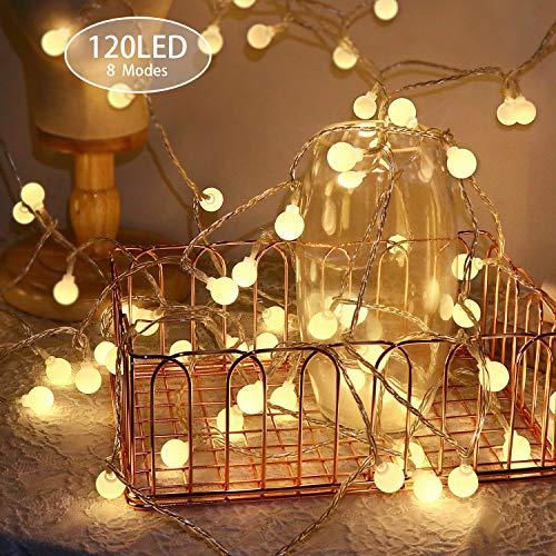 Catena Luminosa 15m 120LED,KOREY Catena di Lampadine,Stringa Luci da Giardino,Luce da Illuminazione...