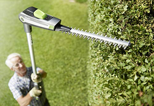 Reach further, work smarter. That's the message that comes with this Gtech HT20 Cordless Hedge Trimmer. This tool is perfectly designed to trim hedges and cut high branches with minimal strain. The machine is well-balanced and lightweight at just 2.3kg its got to be one of the lightest models out there which allows you to manoeuvre across the hedge without feeling anchored down.