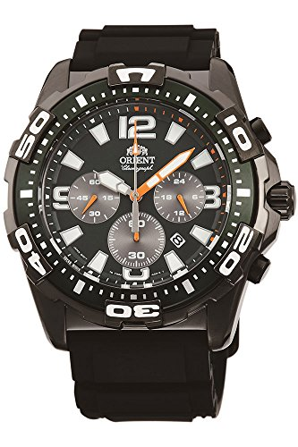 Orient Orologio Cronografo Quarzo Uomo con Cinturino in Gomma FTW05003F0