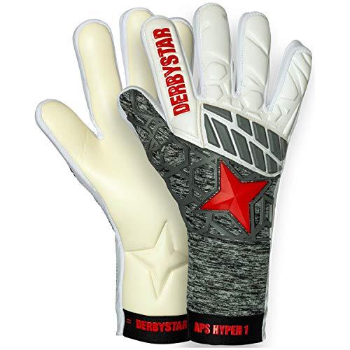 Derbystar Aps Hyper I - Guanti da Portiere, Unisex, Unisex, 502056, Weiss Grau Rot, 11